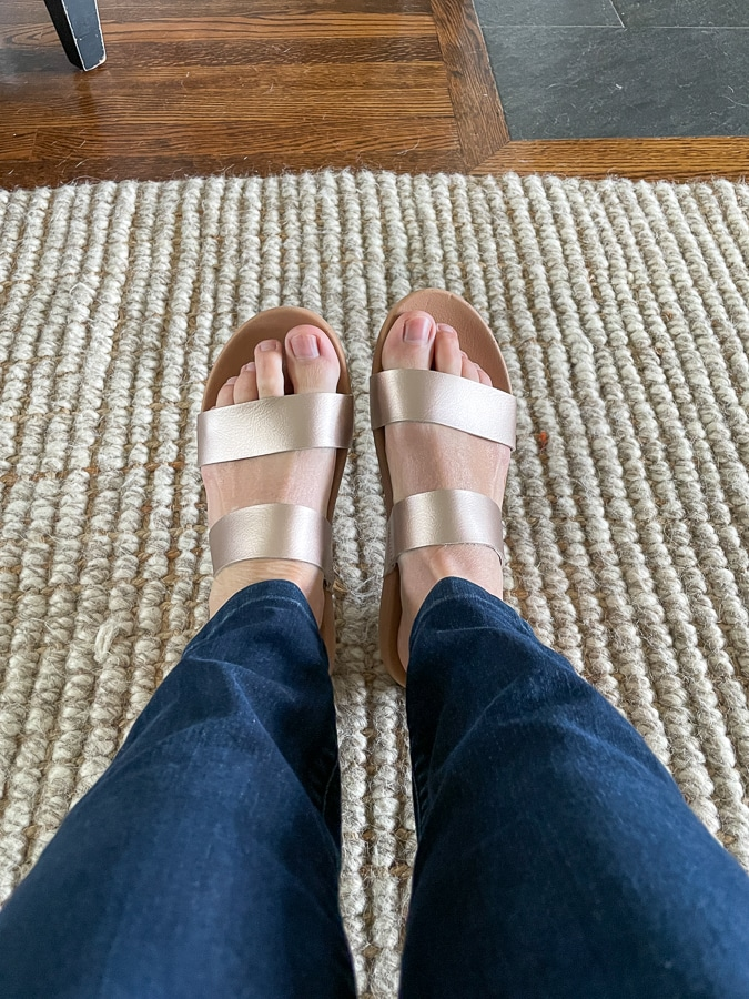 rose gold sandals from target