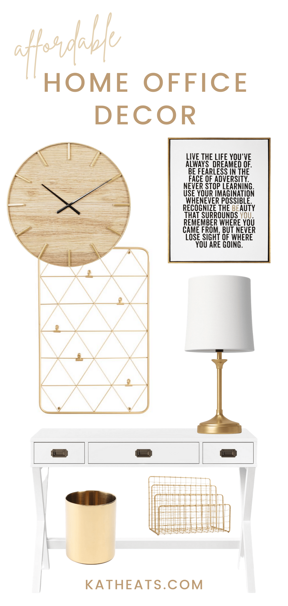 affordable home office decor - classic look