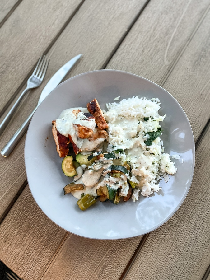 chicken with rice and veggies recipe