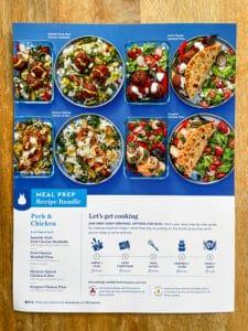 meal prep recipe card the recipes