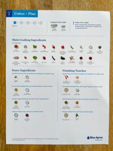 meal prep recipe card unboxing and planning