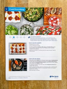 meal prep recipe card more cooking steps