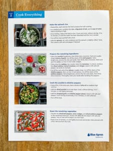 meal prep recipe card cooking steps