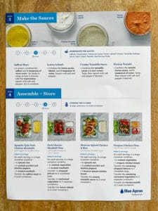 meal prep recipe card the sauces