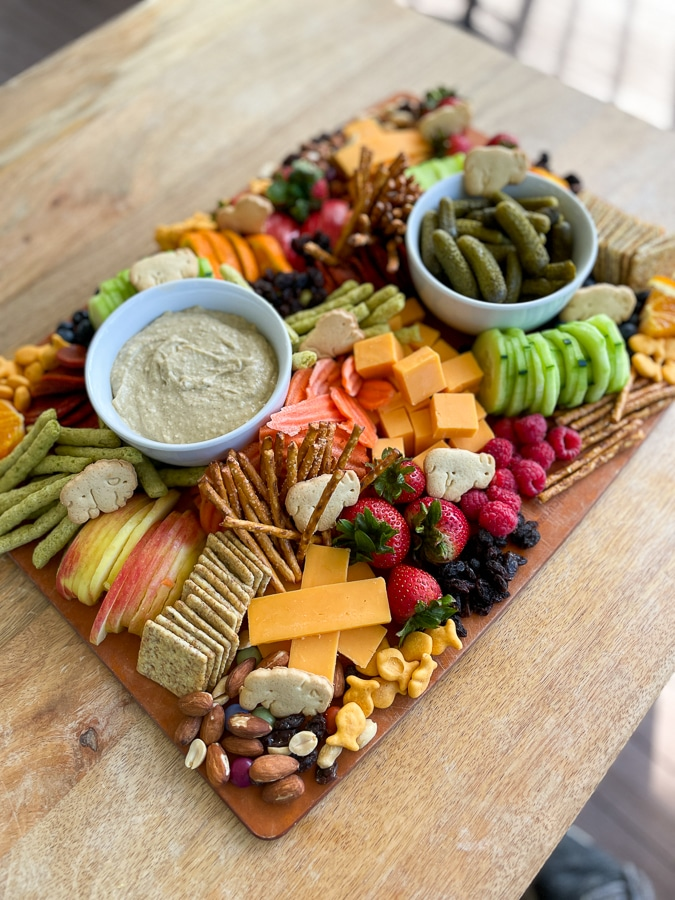 Kids Charcuterie Board ready for kids to eat!