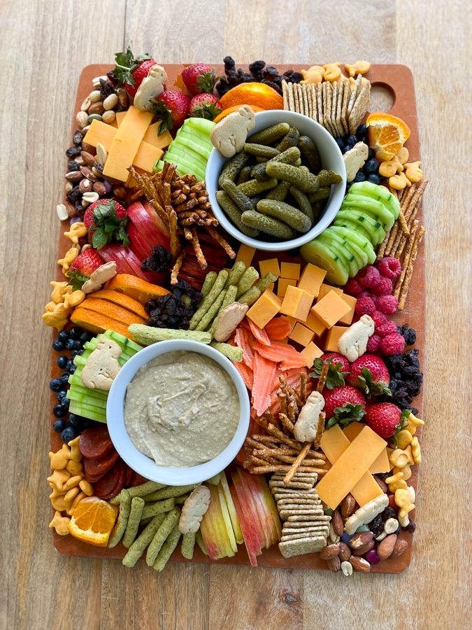 Kids Charcuterie Boardfrom above assembled