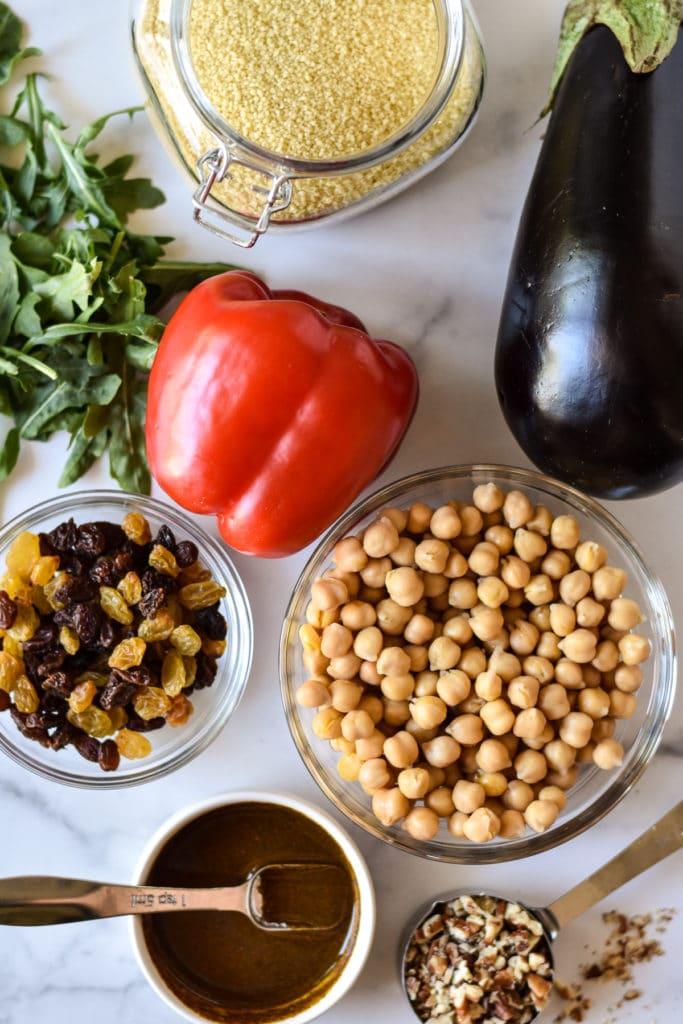 Ingredientes para ensalada de mijo