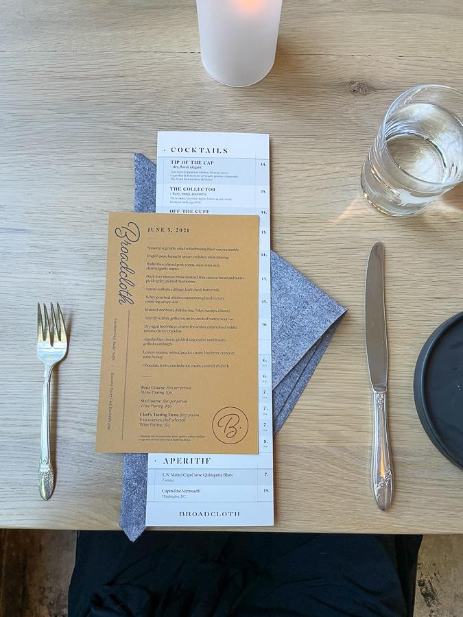 broadcloth menu