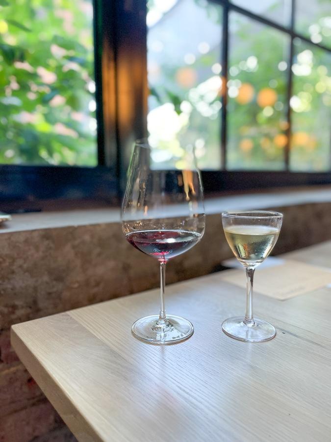 wines by a window