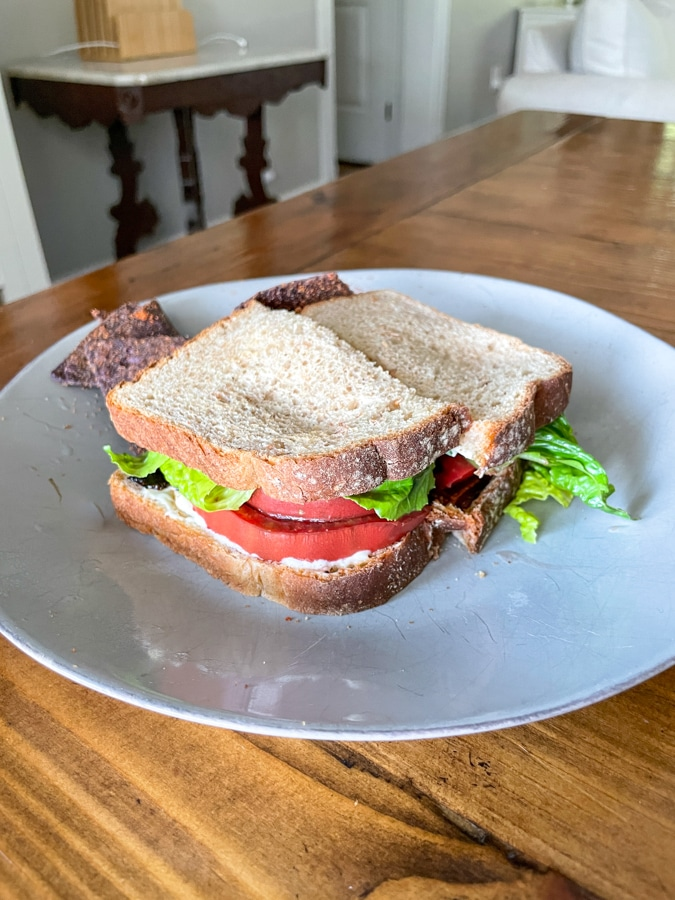 BLT with garden tomatoes