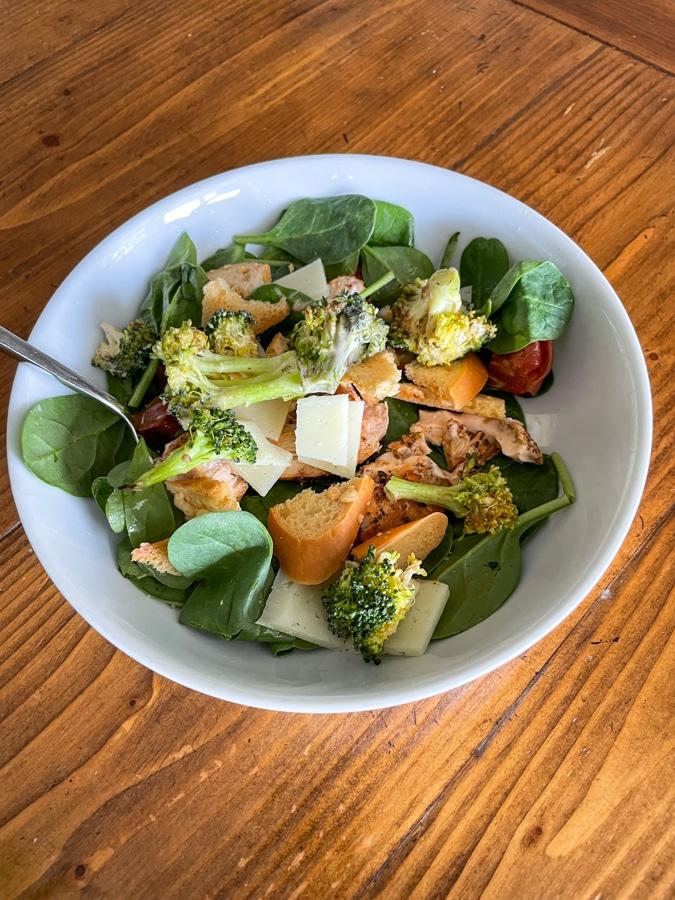 Leftover-jammed salad