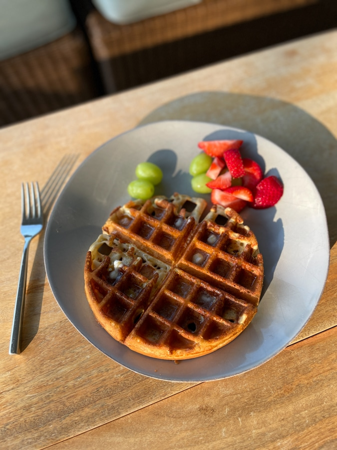 Kodiak Cake homemade waffles