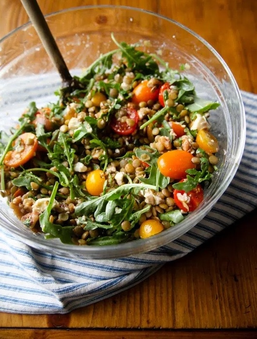 no cook lentil salad recipe