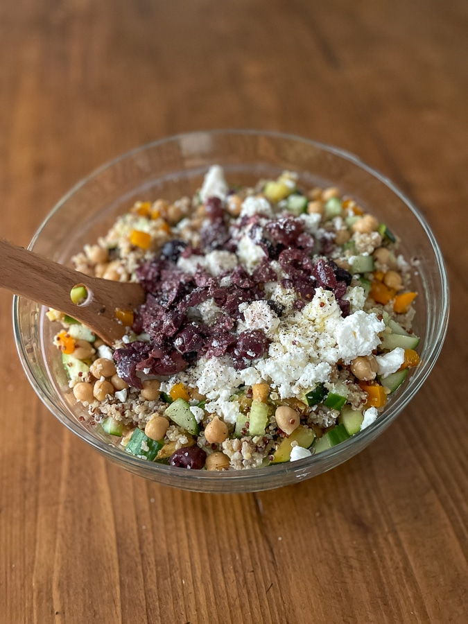 Greek Salad with Quinoa | Types of Grains: How To Store & Cook