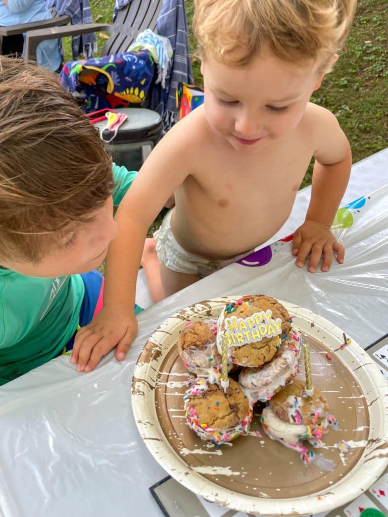 Happy 9th Birthday, Mazen! | Nutella cookie sandwiches