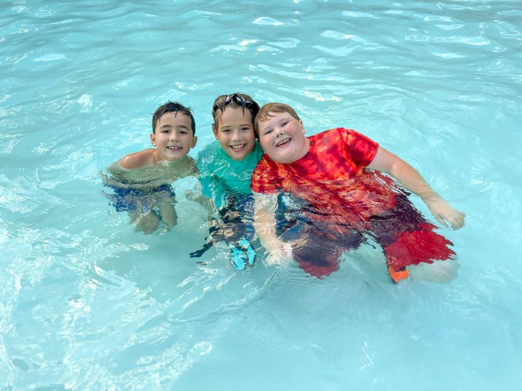 Little boys in the pool