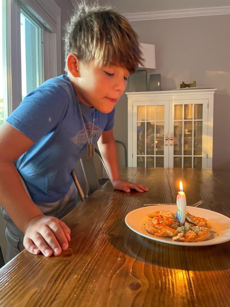 Mazen blowing 9th candle | Happy 9th Birthday Mazen