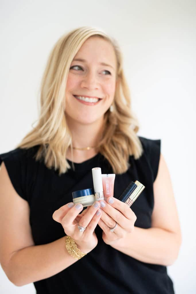 kath reviewing all of the beautycounter lip products