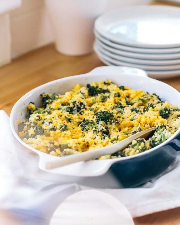10 Healthy & Delicious Millet Recipes | Cheesy Broccoli Casserole via A Couple Cooks