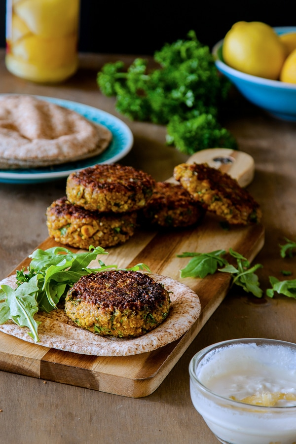 10 Healthy & Delicious Millet Recipes | Spiced Millet & Chickpea Burgers via Delicious Everyday