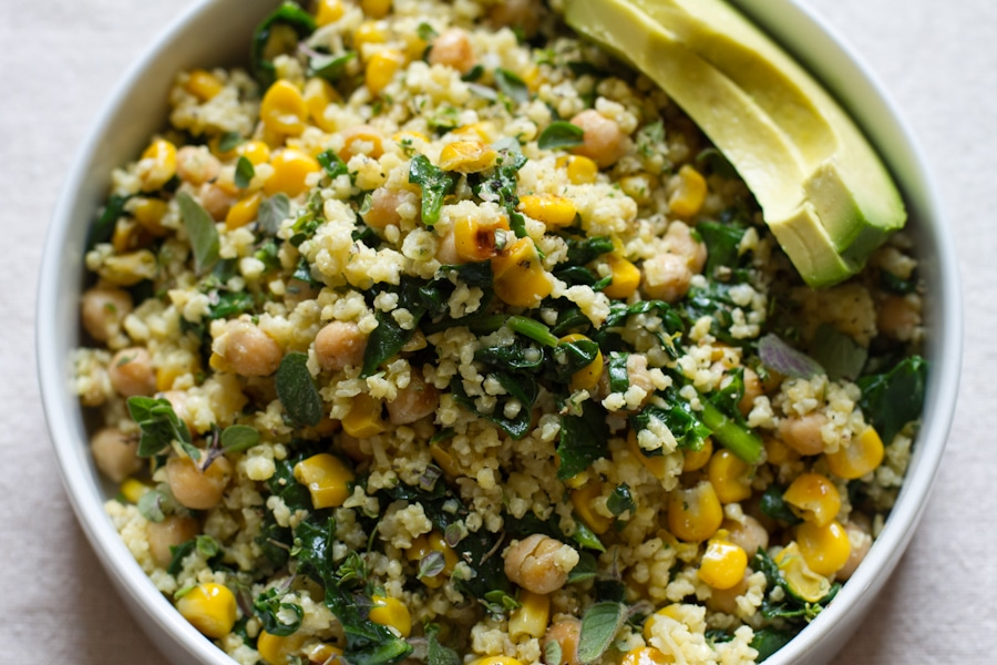 10 Healthy & Delicious Millet Recipes | Lemony Millet Salad with Chickpeas, Corn & Spinach