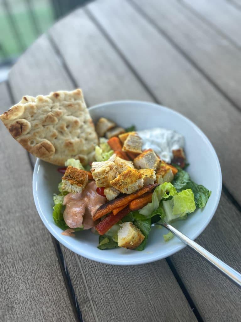 Pita Dinner with salad